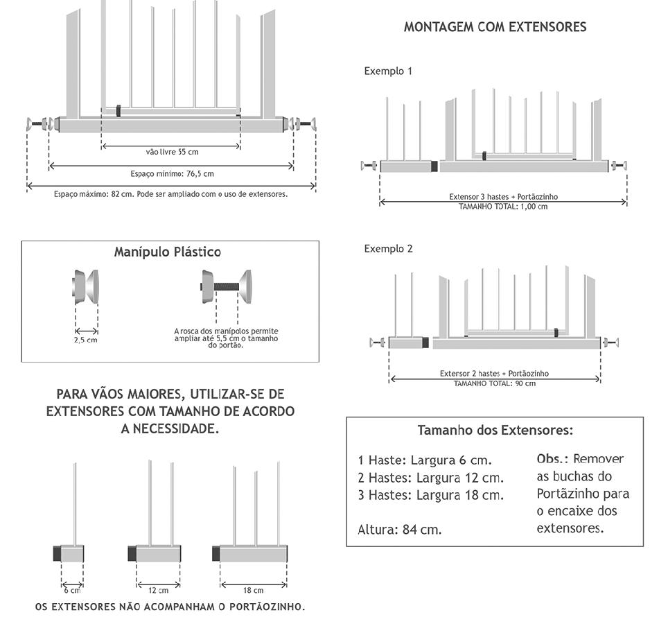 Informações para definição dos produtos necessários para o vão de porta