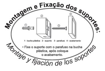 Instruções de Montagem e Fixação dos suportes